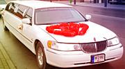 Alytaus limuzinas papuoštas vestuvėms