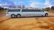 Daugiaratis didelis limuzinas Kaune baltas