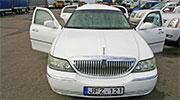 Vestuvėms Kaune baltas gražus limuzinas
