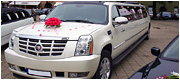 Cadillac Escalade baltas limuzinas