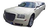 Baltas Chrysler 300C Limuzinas | Kaunas 14 vietų