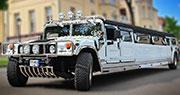 AM General HUMMER H2 Limuzinas | Baltas