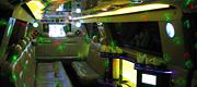 Geltonas limuzino vidus- apšvietimas