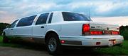 Baltas klasikinis pigus limuzinas