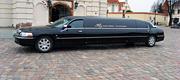 Biznio klasės juodas limuzinas