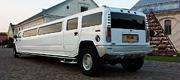 Nuostabus baltas didelis vestuvinis limuzinas
