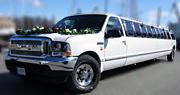 26 vietų limuzinas | Baltas Ford
