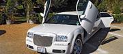 Akinamai baltas limuzinas Chrysler
