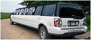 Didelis baltas limuzinas Lincoln Navigator Klaipėdoje