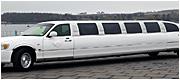 Ilgas baltas limuzinas vestuvėms