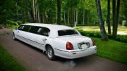 Baltas limuzinas Pajūryje