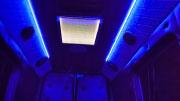 Party Busas mėlynas naktinis apšvietimas.