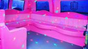 Rožinis vestuvių transportas