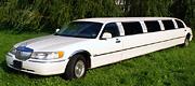 Baltas 14 vietų limuzinas