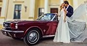 Automobilis Vestuvių Fotosesijai | Ford Mustang 1966 m.