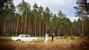 Vestuvių fotosesija gamtoje.