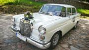 Baltas vestuvių transportas Alytuje.