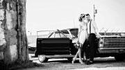Prabangus automobilis vestuvių fotosesijai