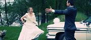 Baltas vestuvinis automobilis
