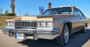 Cadillac DeVille retro automobilio nuoma auksinės spalvos