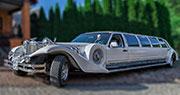 Didelis RETRO limuzinas | Excalibur 9 vietų