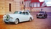 Baltas Rolls Royce vestuvėms.