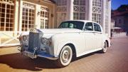 Prabangus ir kerintis vestuvinis senovinis automobilis