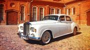Romantiškas vestuvinis Retro automobilis