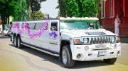 Baltas didelis gražus Hummer vestuvėms