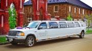 Sutuoktuvių transportas Ford Expedition papuoštas