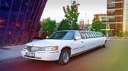 Baltas limuzinas juodas stogas