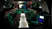 Cadillac Escalade didelis ir prabangus baltas limuzinas