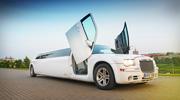 Chrysler baltas limuzinas nuomai vestuvėms