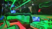 Didelio limuzino- erdvus salonas.
