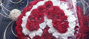 Limuzino papuošimas- širdis iš gėlių
