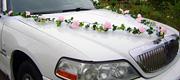 Limuzino priekio papuošimas gėlėmis
