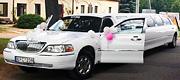 Vilniuje vestuvėms baltas limuzinas