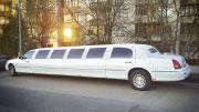 Baltas Karališkas Limuzinas Lincoln Town Car
