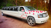 Papuoštas limuzinas vestuvėms