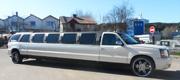 Vestuvinis baltas limuzinas visureigis