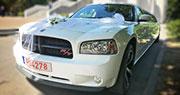 Sportinis Baltas Limuzinas | Dodge Charger R/T